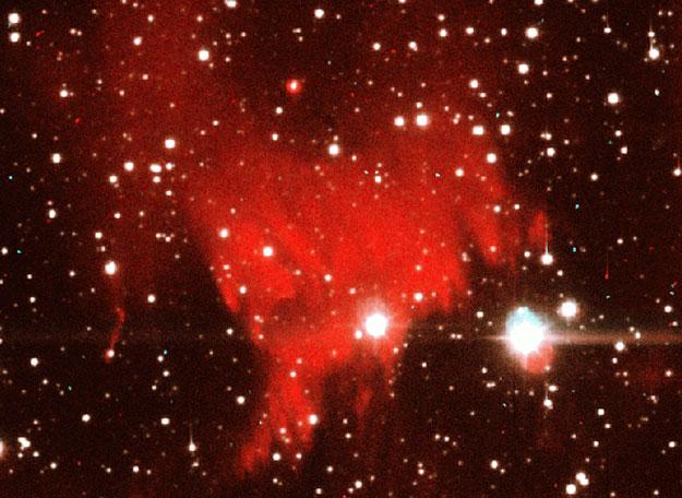 La nébuleuse de la Nova Cygni s\'allume