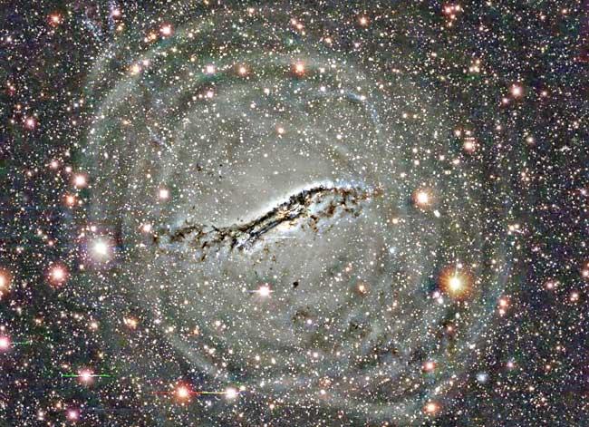 Coquilles externes de Centaurus A