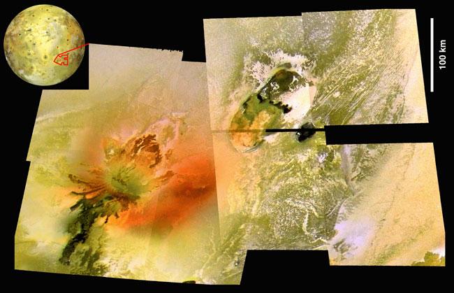 Le volcan Culann Patera de Io