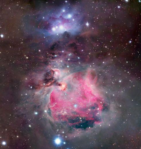 Les nuages colorés d\'Orion