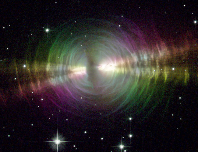 La Nébuleuse de l\'Oeuf en lumière polarisée
