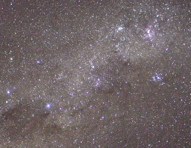 Le ciel austral vu de la station spatiale internationale
