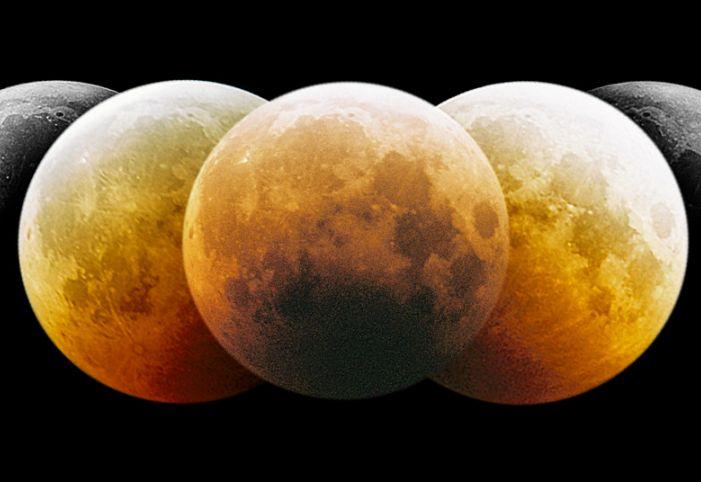 Montage d\'une éclipse lunaire