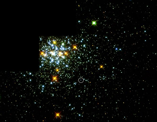 NGC1818: Choisissez une étoile