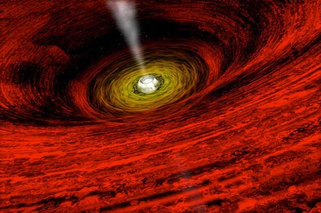 GROJ165540: preuve d\'un trou noir en rotation