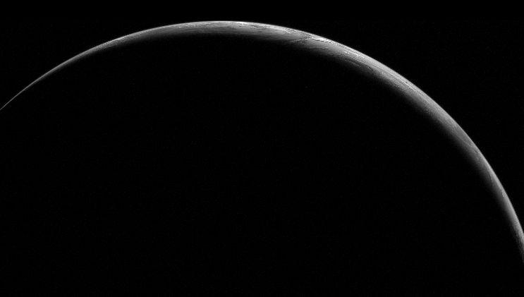 Un croissant de Terre à minuit