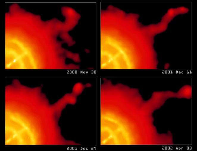 Le jet dynamique du pulsar du Voile