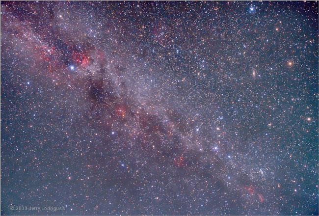 Le nord de la Voie Lactée