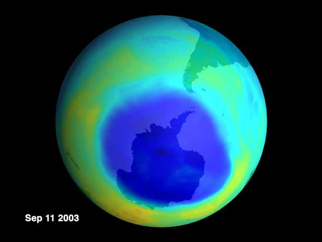 Un trou d\'ozone presque record pour 2003
