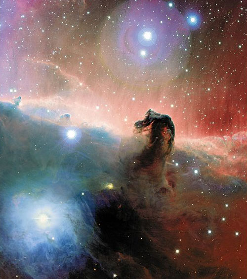 La Nébuleuse de la Tête de Cheval colorée