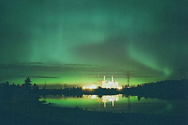 Une aurore sur Edmonton