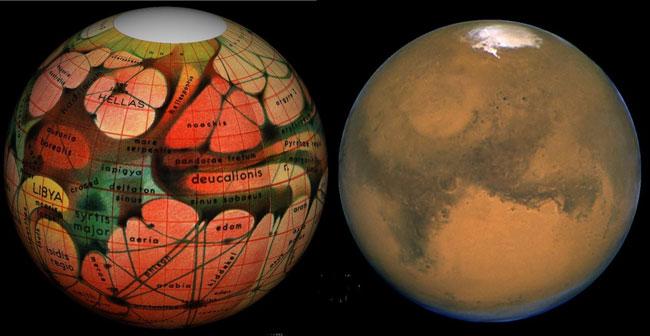Mars d\'hier et d\'aujourd\'hui