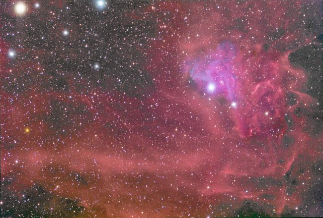 IC405: la Nébuleuse de l\'Etoile Flamboyante