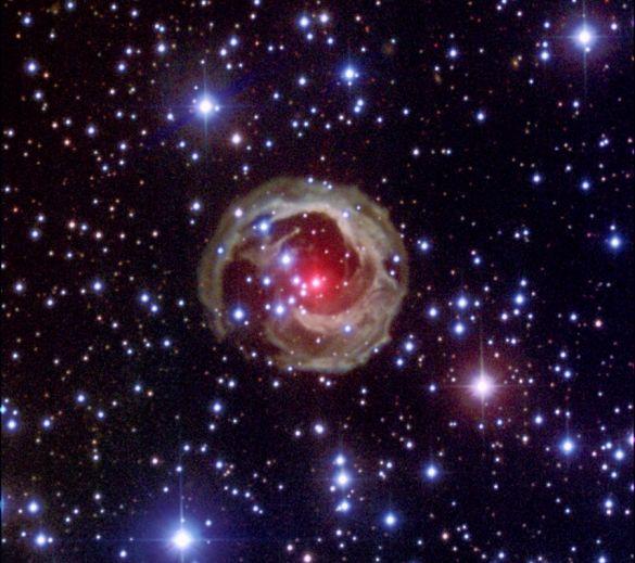 L\'impressionnante étoile V838Mon