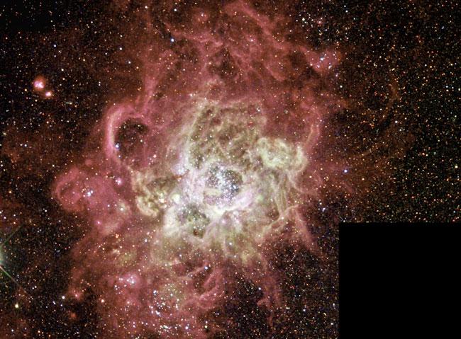NGC604: une nursery stellaire géante