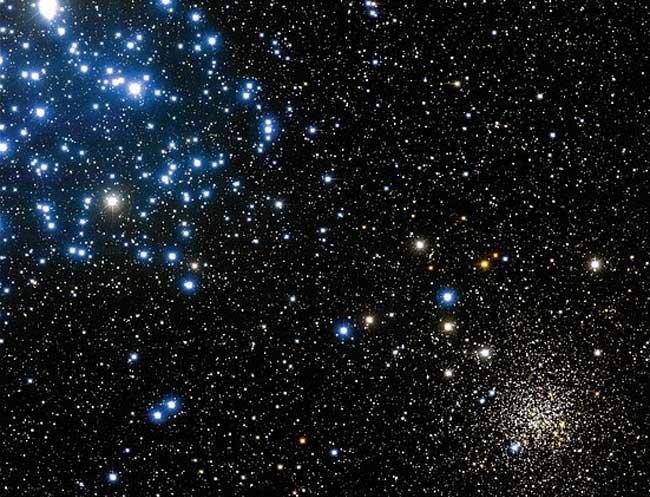 Les amas d\'étoiles M35 et NGC2158