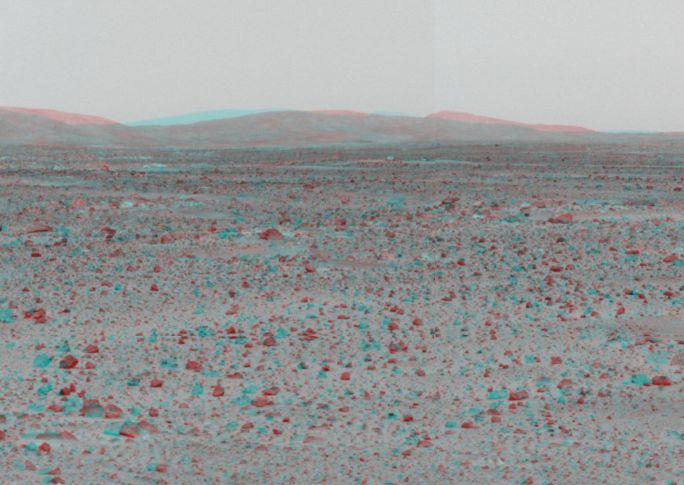 Les collines de Mars