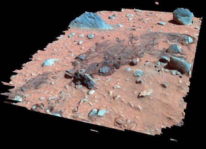 La surface martienne en perspective