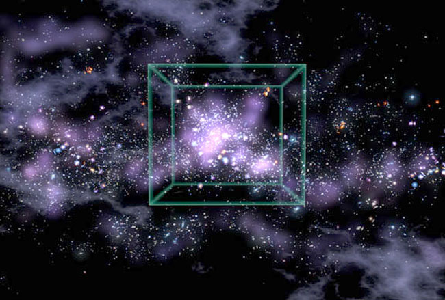 Chaîne de galaxies inattendues dans l\'Univers primordial