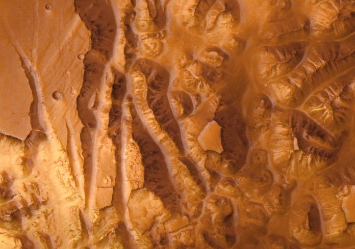 Valles Marineris par Mars Express