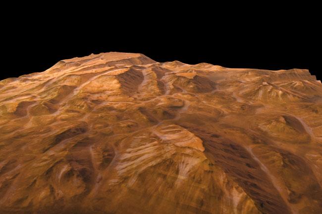 Perspective de Valles Marineris par Mars Express