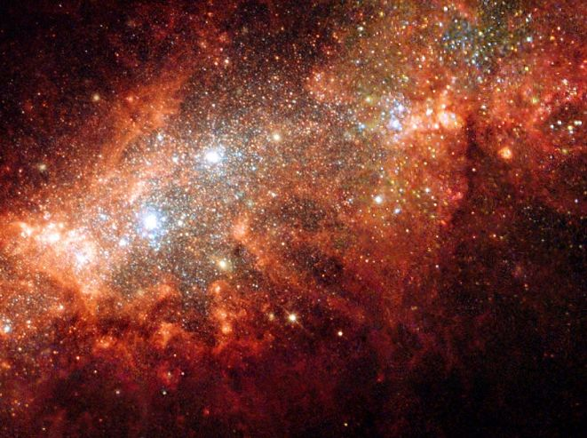 NGC1569: bouffée de naissance stellaire dans une petite galaxie