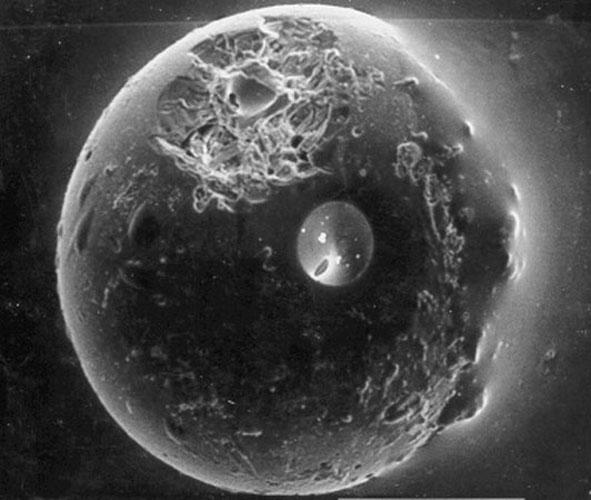 Une sphérule de la lune de la Terre