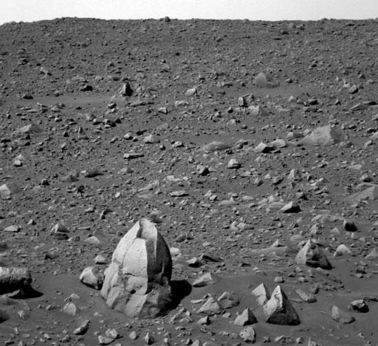 Le rocher Humphrey témoigne de l\'ancienne présence d\'eau martienne