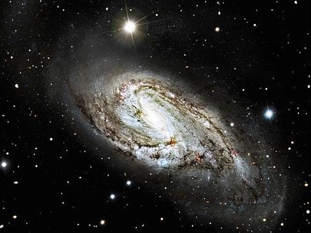 L\'insolite galaxie spirale M66