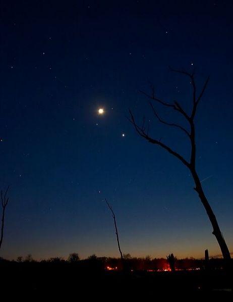 Le ciel de l\'ouest au crépuscule