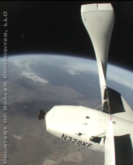 La planète Terre vue de SpaceShipOne