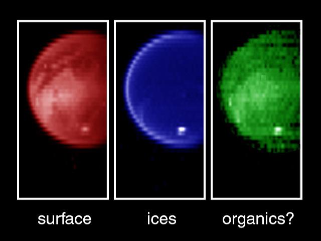 Titan en infrarouge par Cassini