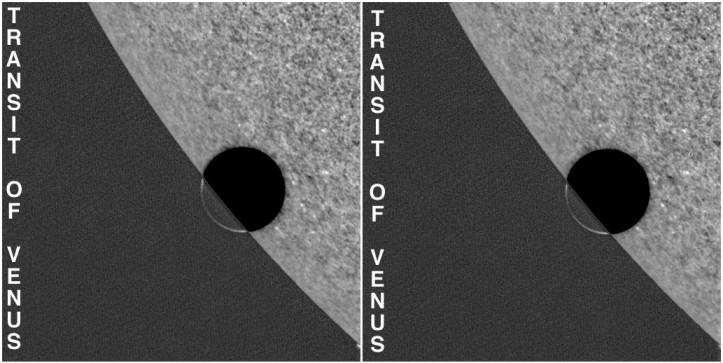 Stéréogramme du transit de Vénus