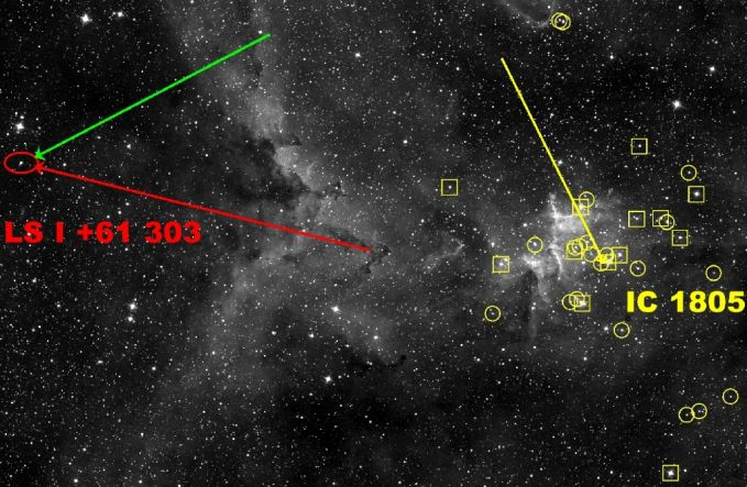 Microquasar en mouvement