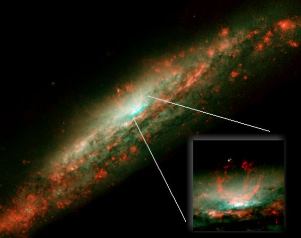 Le chaudron bouillonnant de NGC3079