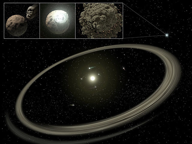 Un vieux disque planétaire de poussière découvert par le SST