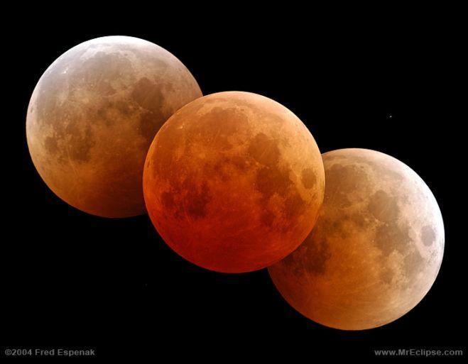 Triple Lune rouge