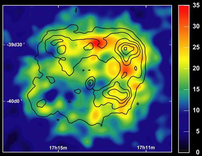 Un rémanent de supernova photographié en rayons gamma