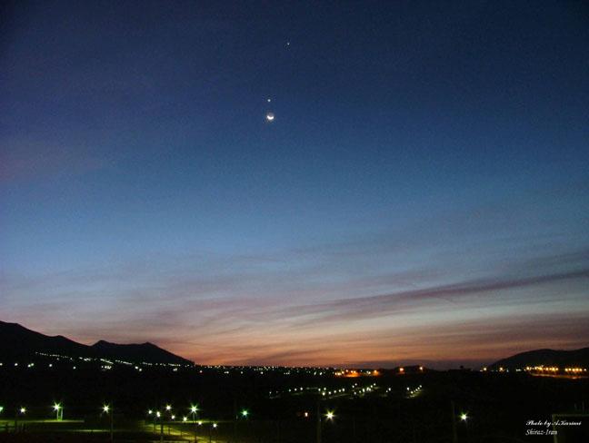 La Lune sur Shiraz
