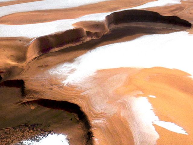 Des falaises abruptes sur Mars