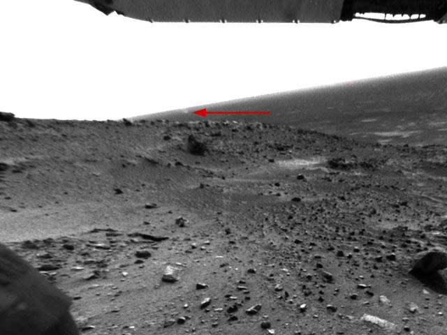 Un diable de poussière tourbillonnant sur Mars