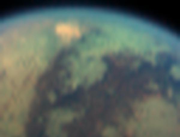 L\'étrange tache de Titan