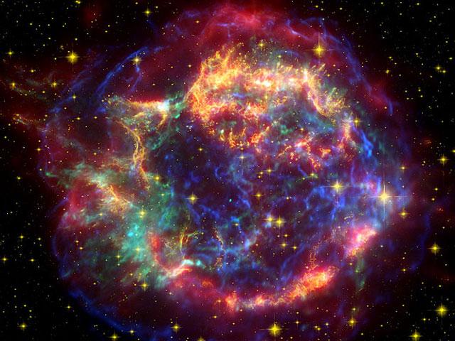L\'écho lumineux de Cassiopeia A en infrarouge