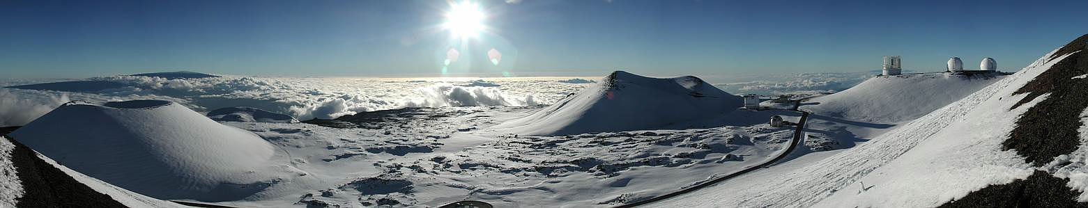 Un panorama du Mauna Kea