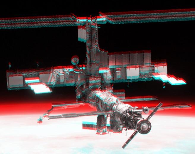 La station spatiale internationale en 3D