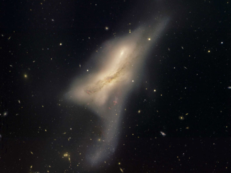 Les galaxies en collision de NGC 520