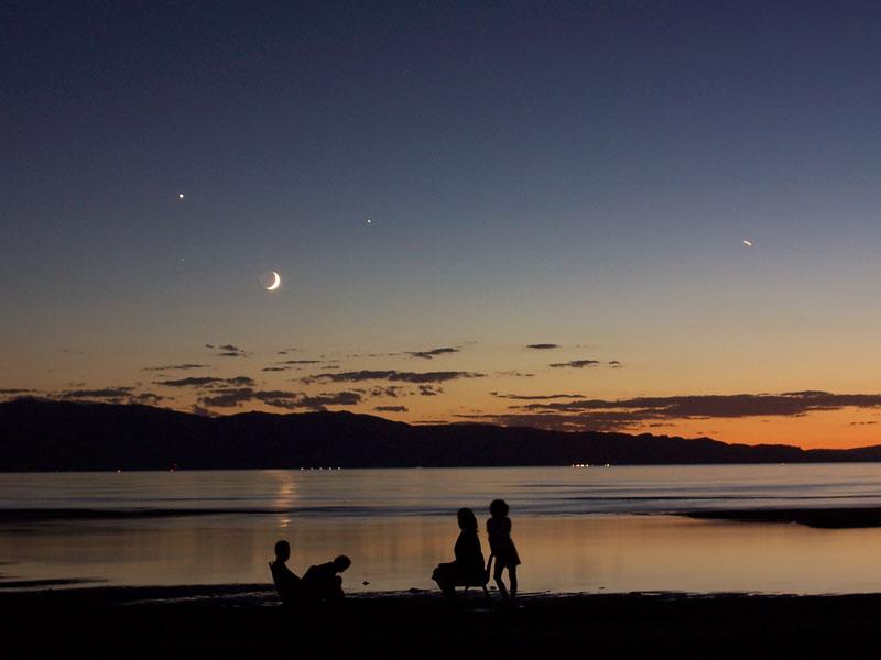 4 astres dans le ciel de Great Salt Lake
