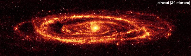 La galaxie d\'Andromède en infrarouge