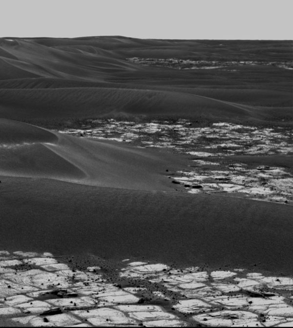 Les petites dunes de Mars