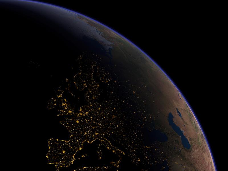 L\'Europe vue de nuit